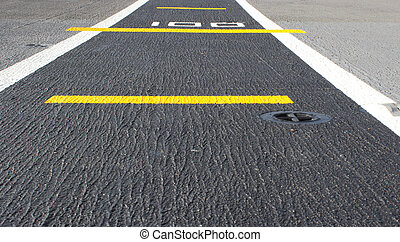 road airstrip background - road marking on an airstrip...