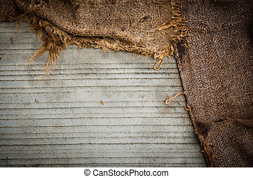 Grunge Background of concrete and fabric