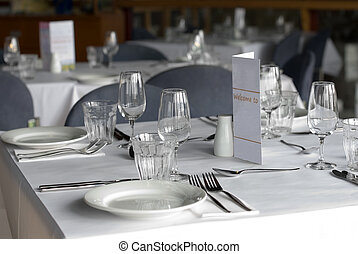 Cafe Table - A cafe table prepared for diners