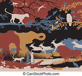 Biodiversity - Colorful editable vector illustration of...