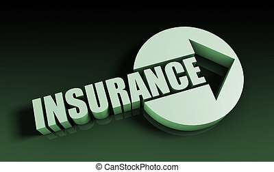 Insurance Concept With an Arrow Going Upwards 3D