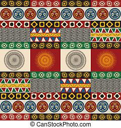 Seamless mayan, aztec pattern