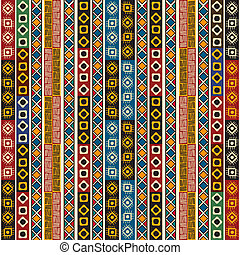 Colorful ethno design - Colorful ethno seamless pattern...