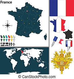 mapa, francia