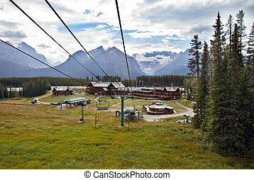 Lake Louise Cable Car in Banff National Park in Rocky...