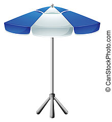 A big beach umbrella - Illustration of a big beach umbrella...