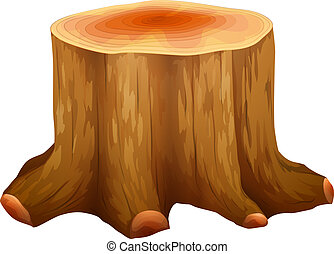 A stump of a big tree - Illustration of a stump of a big...
