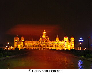 Mysore Palace - I was clicking a picture of the Mysore...