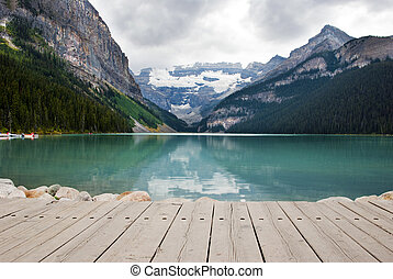 Lake Louise - Scenic View of Lake Louise, Banff National...