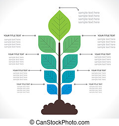 tree creative info-graphics concept vector