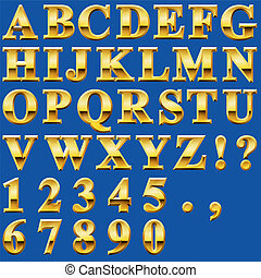 Gold Metal Letters