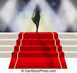 red carpet celebrity - illustration of red carpet celebrity