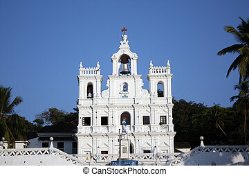 Beautiful Goa Church - A background with a view of the...