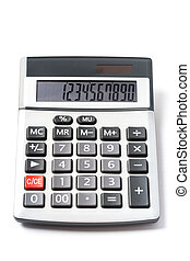 Electronic Calculator - Solar electronic calculator isolated...