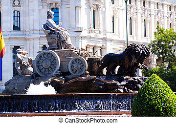 Cibeles Fountain at Plaza de Cibeles Madrid, Spain
