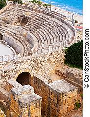 Old Roman amphitheater at Mediterranean - Old Roman...