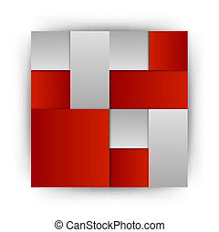 Red Layout - Red squares in the gray space - vector layout...