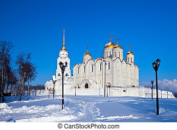 Assumption cathedral at Vladimir in winter, Russia...
