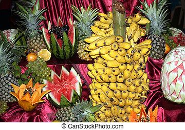 frutas, arranjo