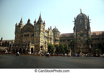 CST Mumbai - The famous CST Chatrapati Shivaji Terminus...