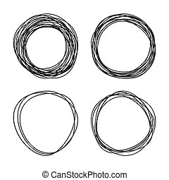 Circle drawing the sketch. A vector illustration