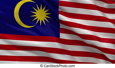 Flag of Malaysia seamless loop - Flag of Malaysia gently...