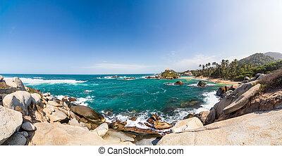 Tayrona Panorama - Panoramic view of Cabo San Juan del Guia...