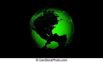 Planet Earth with green connections