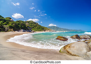 Beach in Tayrona National Park - Deserted beach in Tayrona...