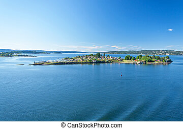 Oslo Fjord - Landscape around the Oslo Fjord on a beautiful...