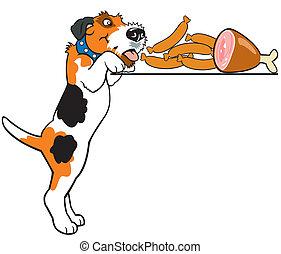 cartoon dog - dog,fox terrier breed,cartoon image isolated...