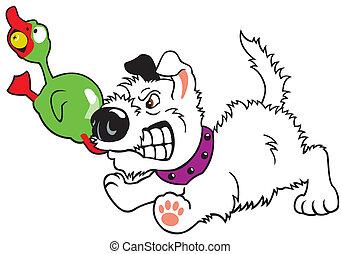 cartoon dog gnaw toy duck - dog gnaw toy duck,cartoon image...