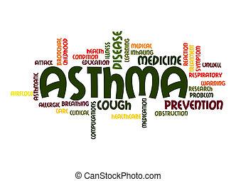 asma, palabra, nube