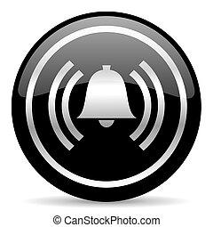 alarm icon - black web button on white background