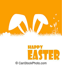 Happy easter cards illustration with easter egg and fonts...