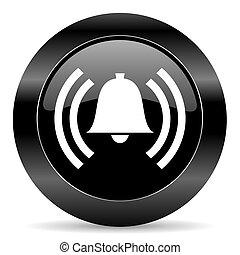 alarm icon - black circle web button on white background
