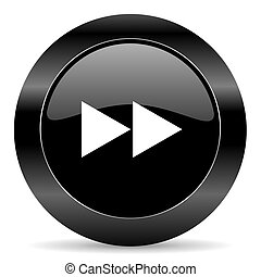 rewind icon - black circle web button on white background