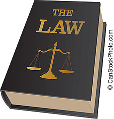 Law Book - Illustration of a law book sued by lawyers and...