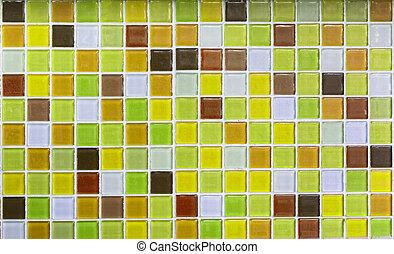 Yellow glass tiles as background