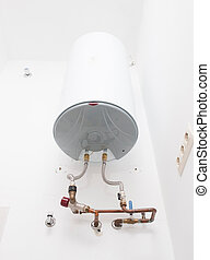 Electric water heater in a wall - Electric water heater...