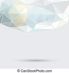 Vector abstract background of the triangle