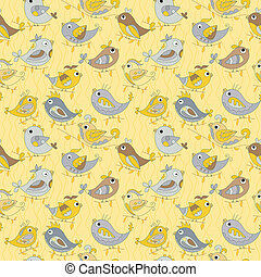 Parrot  seamless colorful pattern
