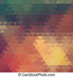 Abstract geometric background of the triangles Bright color...