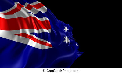 Flag of Australia - Beautiful 3d animation of Australia flag...