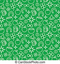 St Patricks Day Seamless Pattern - St Patricks day green...
