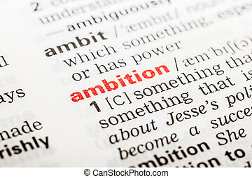 Ambition Word Definition