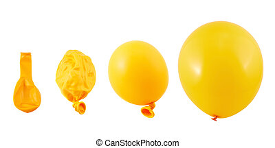 Four stages of balloon inflation isolated - Four stages of...
