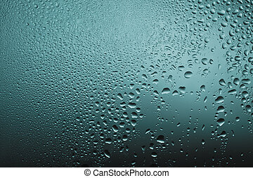 Waterdrops on the glass texture