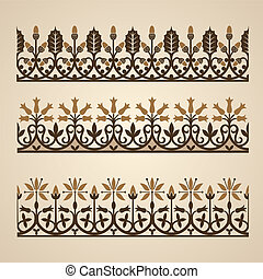Old ornaments - Old ornament Vector illustration