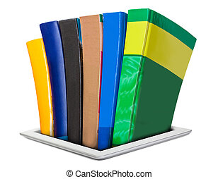 all the necessary literature in e-books, a large library